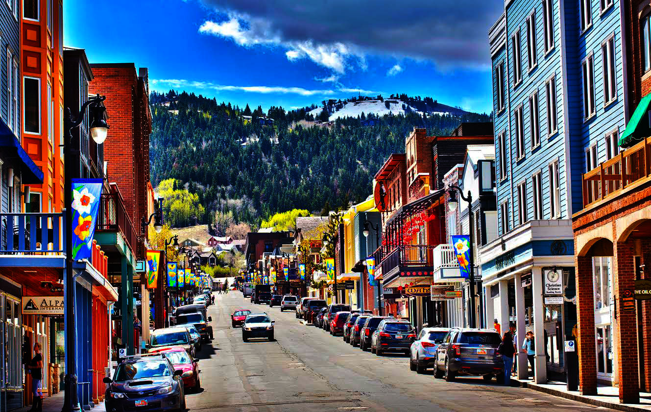 Park City Main Street in Summer