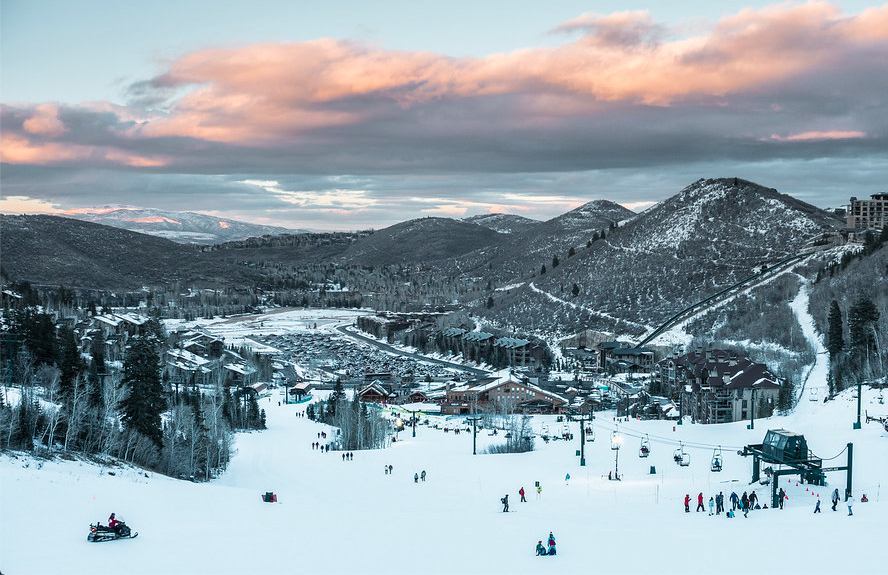 Deer Valley Resort Ski Slopes in Winter