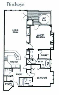 Floor Plan for Ski-In/Ski-Out 2-Bedroom With Private Hot Tub