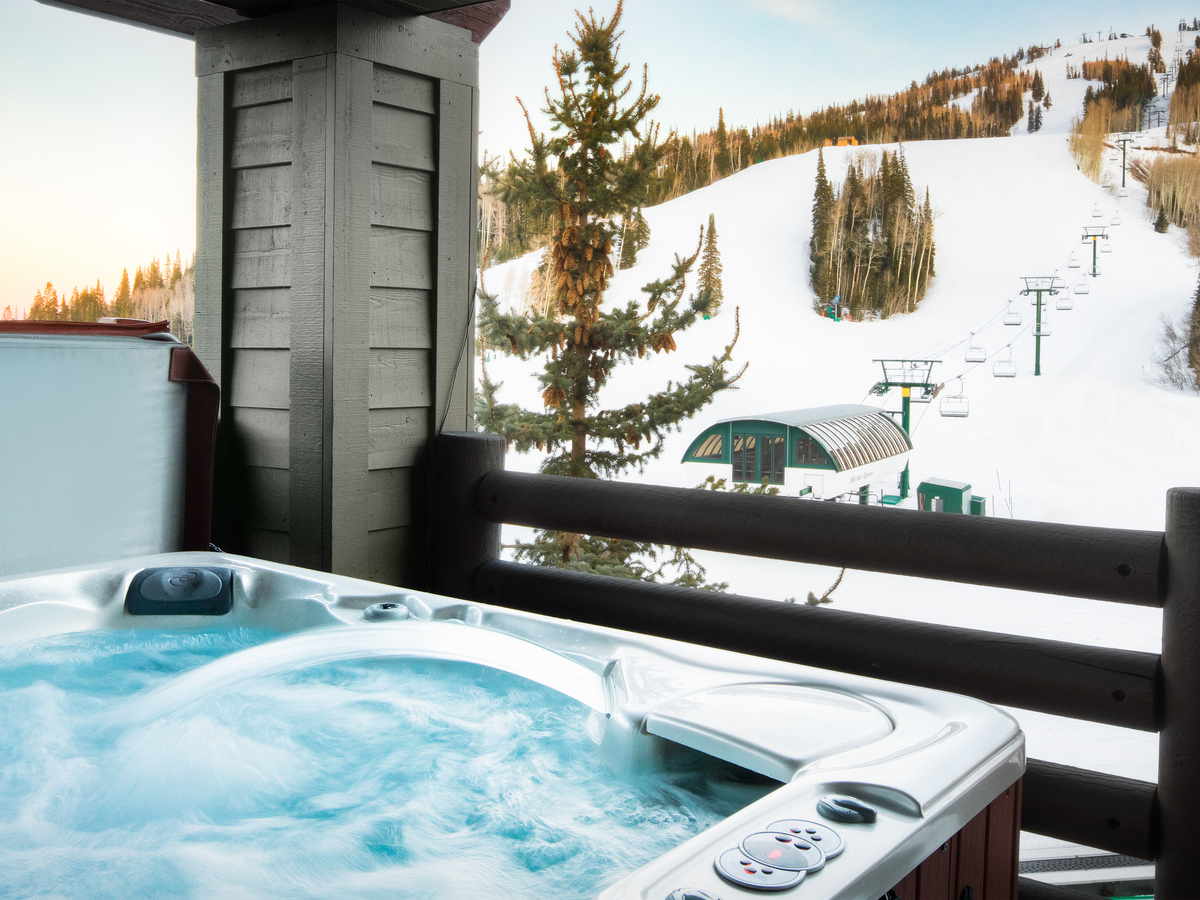 Ski In Ski Out Deer Valley Condo with Hot Tub overlooking ski resort