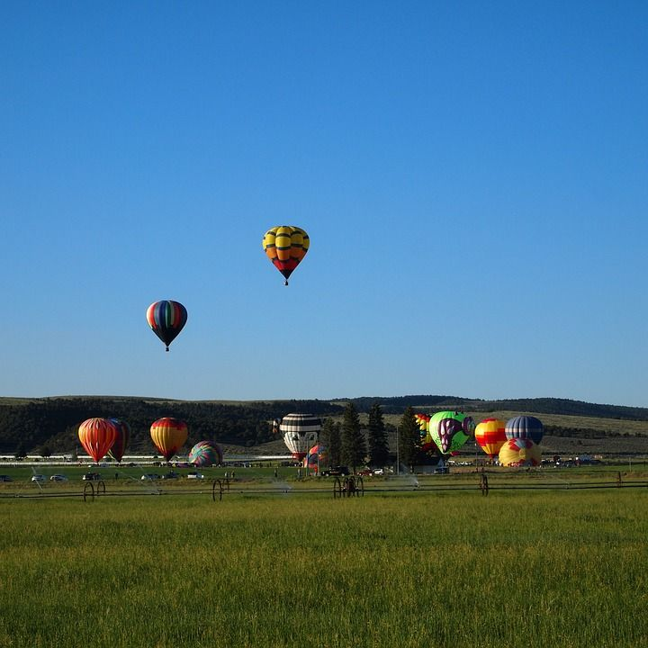 Park City Hot Air Baloons Taking Off