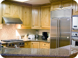 Deer Valley vacation rental kitchen with beautiful stainless appliances and granite counter tops